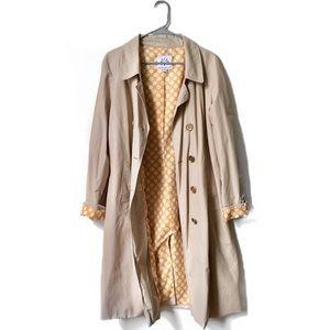 Isaac Mizrahi Khaki Trench Coat